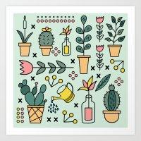 Inside Garden Art Print