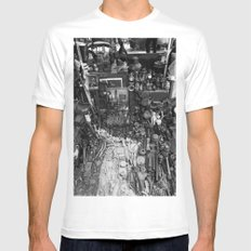 One Man's Possessions White SMALL Mens Fitted Tee