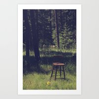 Sitting Elsewhere Art Print
