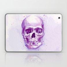 Pink Skull Watercolor Laptop & iPad Skin