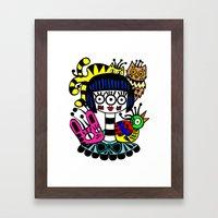 imaginary friends Framed Art Print