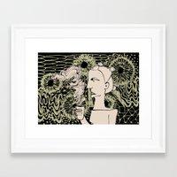 Cafe Drawing Framed Art Print