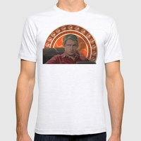 Living with Sherlock Holmes Mens Fitted Tee Ash Grey SMALL
