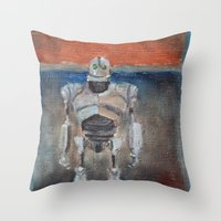 Iron Giant and Rothko Throw Pillow