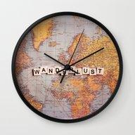 Wanderlust Map Wall Clock