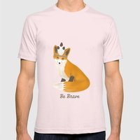 Be Brave - Fox Native Mens Fitted Tee Light Pink SMALL