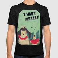 I Want Moaarrr! Mens Fitted Tee Tri-Black SMALL