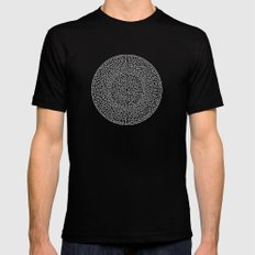 THE RED LABYRINTH SMALL Mens Fitted Tee Black