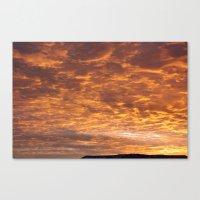 Orangeswept Sky 1 Canvas Print