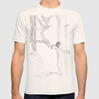 Vine-Swinging Mens Fitted Tee Natural SMALL