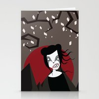 Under The Red Moon Stationery Cards