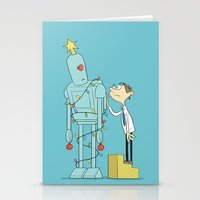 Robot Tree Stationery Cards