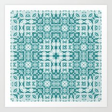 Aquatica Teal Kaleido Art Print