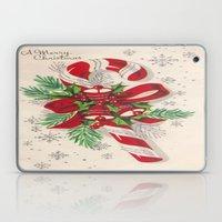 A Vintage Merry Christma… Laptop & iPad Skin
