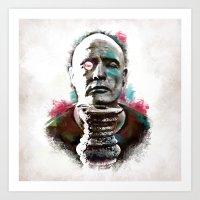 Marlon Brando under brushes effects Art Print