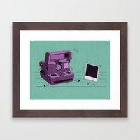 Shake It Like A Polaroid… Framed Art Print