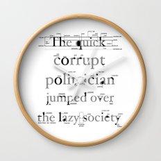The Quick Corrupt Wall Clock