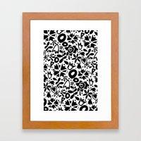 Graphic Garden Framed Art Print
