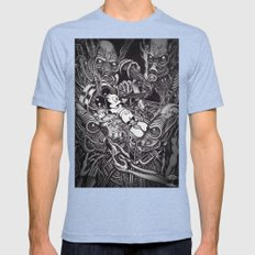 Alien Abduction - The Mouse Mens Fitted Tee Tri-Blue SMALL