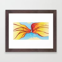 Digital Butterfly Framed Art Print