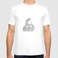 bow tie up Mens Fitted Tee White SMALL