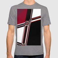 Barred Mens Fitted Tee Tri-Grey SMALL