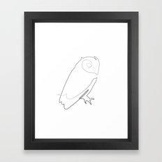 One line owl Framed Art Print