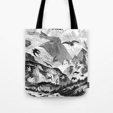 Mountain Birds Tote Bag