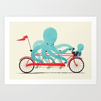 Art Print featuring My Red Bike by Jay Fleck
