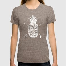 You Had Me At Aloha! Womens Fitted Tee Tri-Coffee SMALL