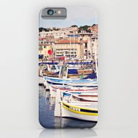 Boats in Cassis Harbor iPhone 6 Slim Case