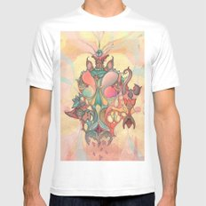 The Fountain of Originality Mens Fitted Tee White SMALL