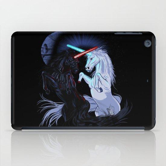 Starwars with unicorns (black) iPad Case