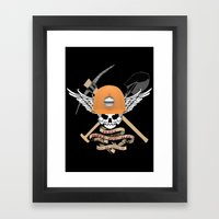 Blood, Sweat, & Tears Framed Art Print