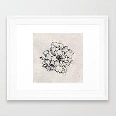 Flower Hairpin Framed Art Print