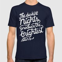 Darkest Nights Mens Fitted Tee Navy SMALL