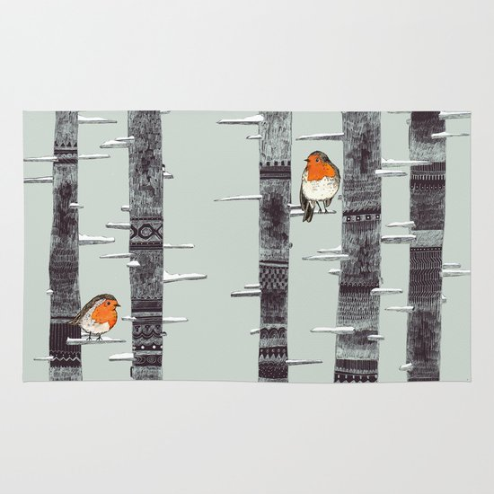Robin Trees Area & Throw Rug