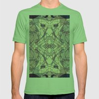 Kaleidoscopic Trip Mens Fitted Tee Grass SMALL