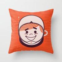 Retro Space Guy Throw Pillow