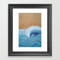 Wooden Wave Scape Framed Art Print
