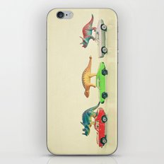 Dinosaurs Ride Cars iPhone & iPod Skin