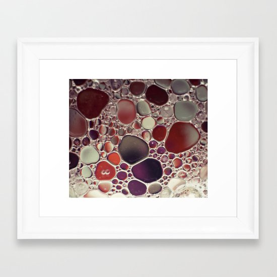 Bubble Abstract Framed Art Print