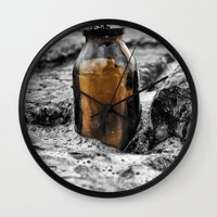 Message in a bottle Swept away by the sea Secrets held within Dreams of you and me Wall Clock