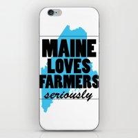 Maine Loves Farmers, Ser… iPhone & iPod Skin