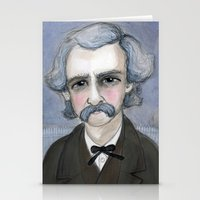 The Adventures of Mark Twain, A Victorian Writers Portrait Stationery Cards