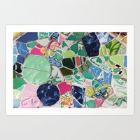 Tiling with pattern 6 Art Print