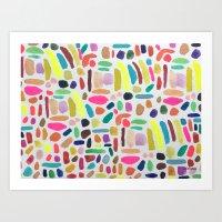 Colorful Blobs Art Print