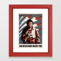 The Resistance Needs You… Framed Art Print