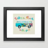 Take The Beach With You Framed Art Print