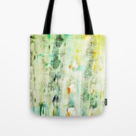 Tote Bag featuring Greenish Abstract by Iris Lehnhardt